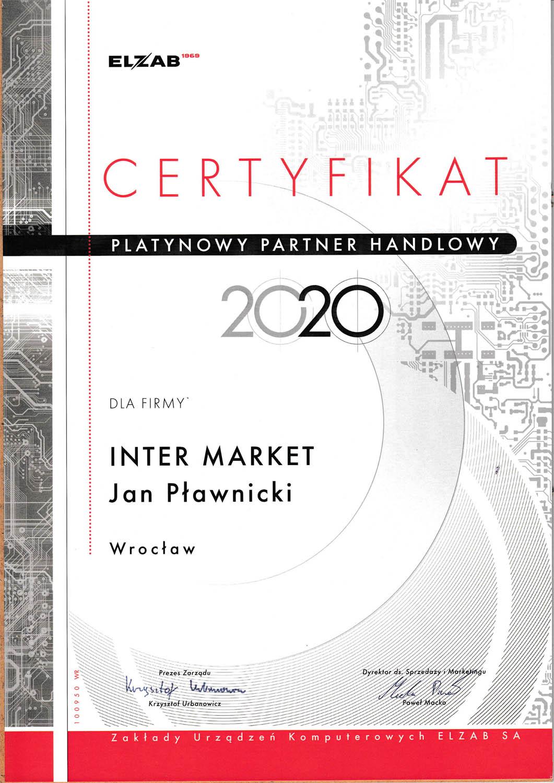 Certyfikat ELZAB dla firmy Inter Market